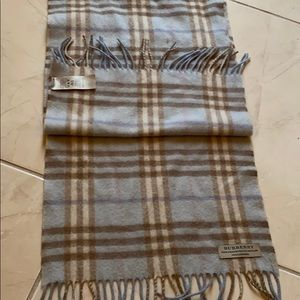 Burberry cashmere plaid scarf